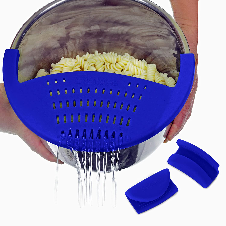 Salbree Clip-On Strainer for the Instant Pot (6 Quart, Dark Blue)