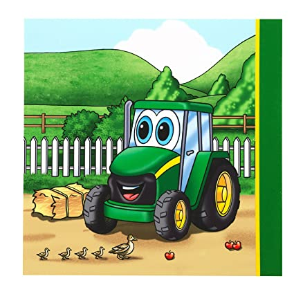 Amazon.com: Johnny Tractor Lunch Napkins (20 count) Party Accessory ...