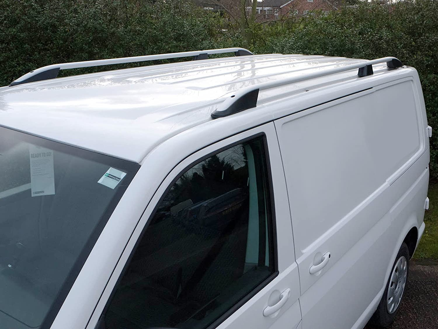 Van Demon Aluminium Roof Rails Pair Roof Bars Fits VW Transporter T5 (03-15) [SWB]