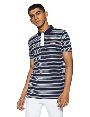 d0321bb9c7 Fila Men's Striped Regular Fit Polo: Amazon.in: Clothing & Accessories