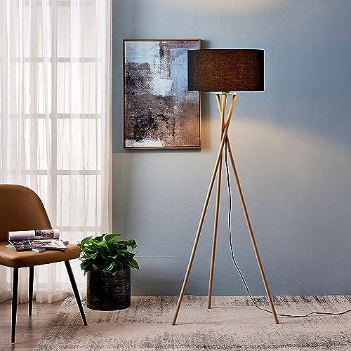 Archiology Wood Tripod Floor Lamp