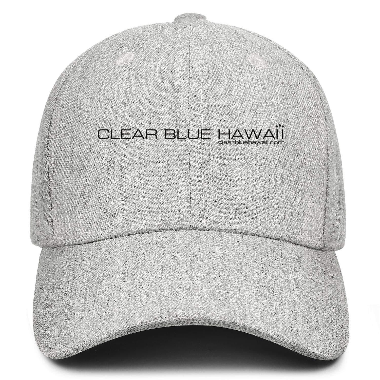 LiyeRRy Clear-Blue-Hawaii Adjustable Baseball Cap Wool Strapback Dad Hat Unisex Unconstructed Trucker Hat