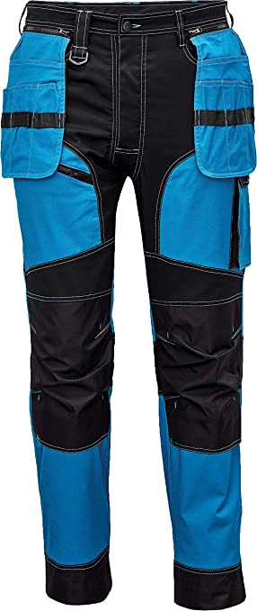 Imagen deDINOZAVR Keilor Pantalones de Trabajo para Hombre con Bolsillos para Rodillera, Bolsillos Multifuncionales y Cintura Elástica