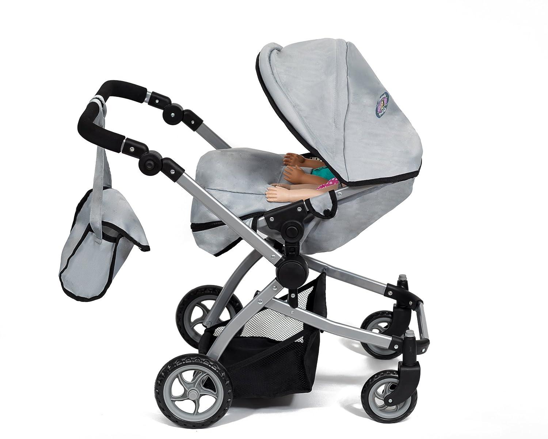 Cinderella USA Babyboo Deluxe Double Doll Stroller – Gray