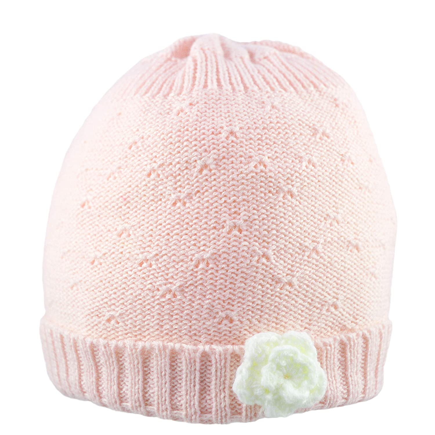 Pesci Baby Girls Hat with Flower