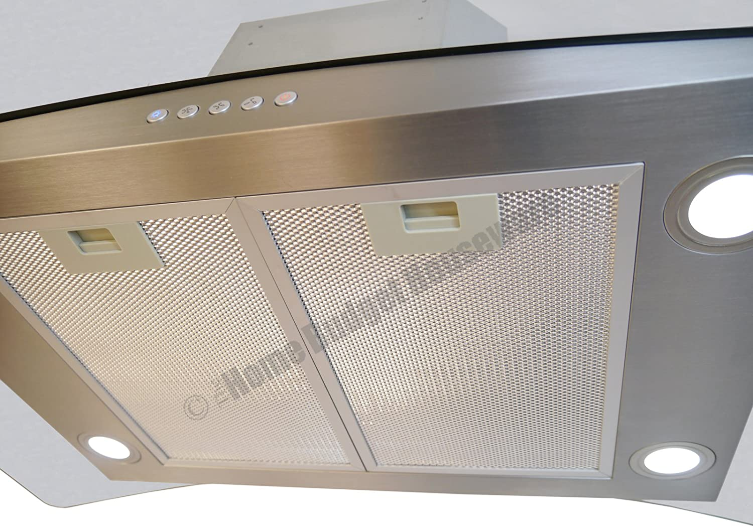 3 Speed Exhaust Fan Ducted//Ductless Convertible Duct Blue Ocean 36 RH668I Tempered Glass Stainless Steel LED Light Island Mount Kitchen Range Hood 900 CFM PRO PERFORMANCE