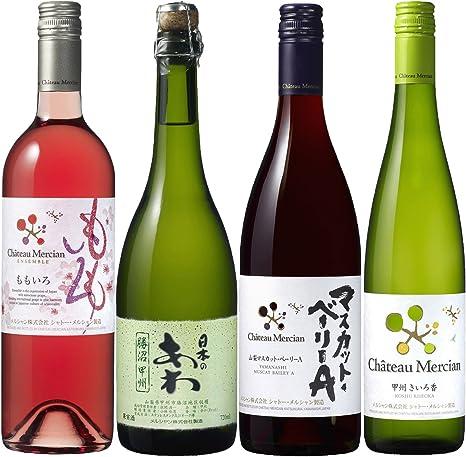 Amazon.co.jp: セット 白ワイン サミットで採用されたシャトー・メルシャンがおすすめする 日本ワインお楽しみセット  750ml×3本、720ml×1本 [ 742.5mlx4本 ] 通販: 食品・飲料・お酒