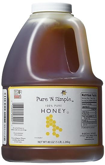Pure N Simple 100% Pure Honey, 5 lb (80 oz) Bulk Size (1)