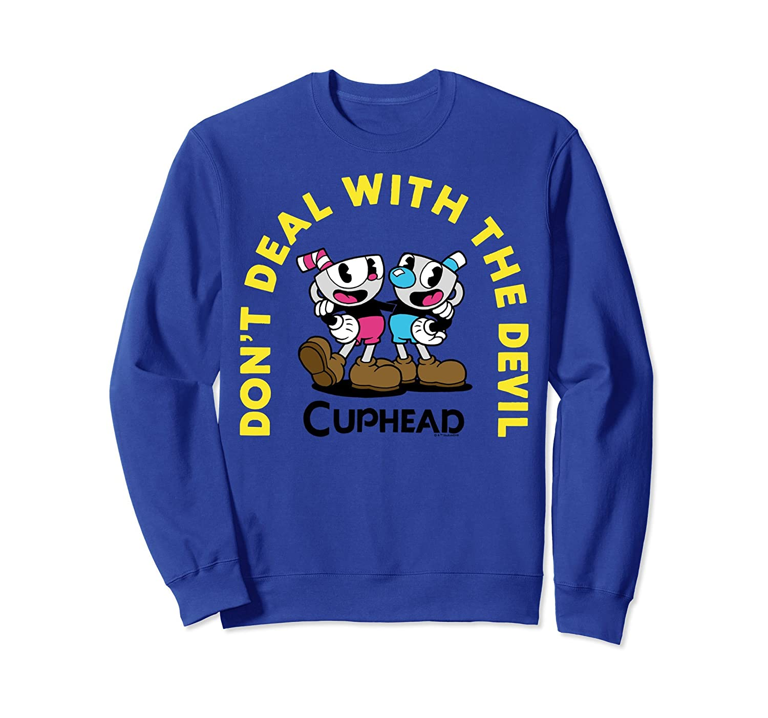 Cuphead Mugman Deal With The Devil Arch Duo Sweatshirt-mt