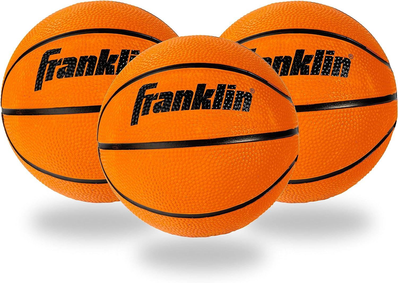 Franklin Sports Indoor Mini Basketballs Indoor Game Room Replacement Basketballs 3 Pack Slam Dunk Approved