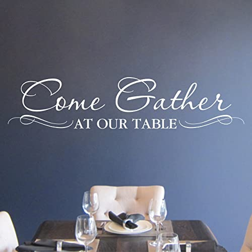 Amazon.com: Come Gather at our Table Vinyl Wall Decal by Wild Eyes ...