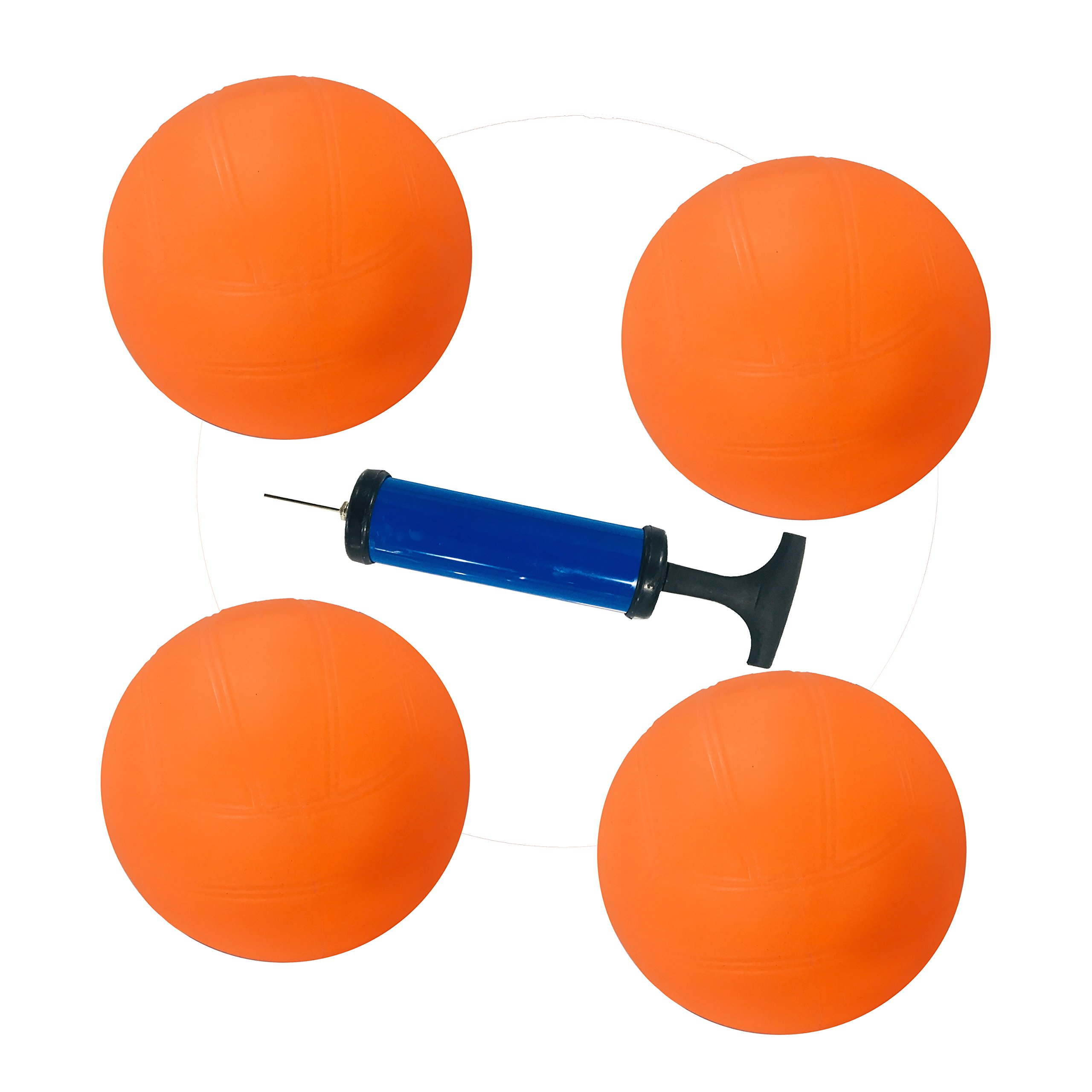 Sportbeats Durable 4 Balls with 1 Hand Pump for Exciting Fast Paced Outdoor Lawn Games, Yard, Outdoor, Indoor, Beach, Tailgate Games,Great Gift for Adults, Kids, Family