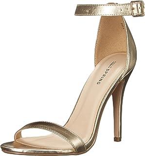 b38f382c38 Amazon.com   Women PVC Open Toe Lucite Ankle Strap Blockl Heel ...