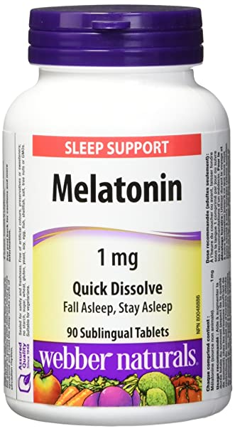 Amazon.com: Webber Naturals Melatonin 1 mg · Quick Dissolve ...