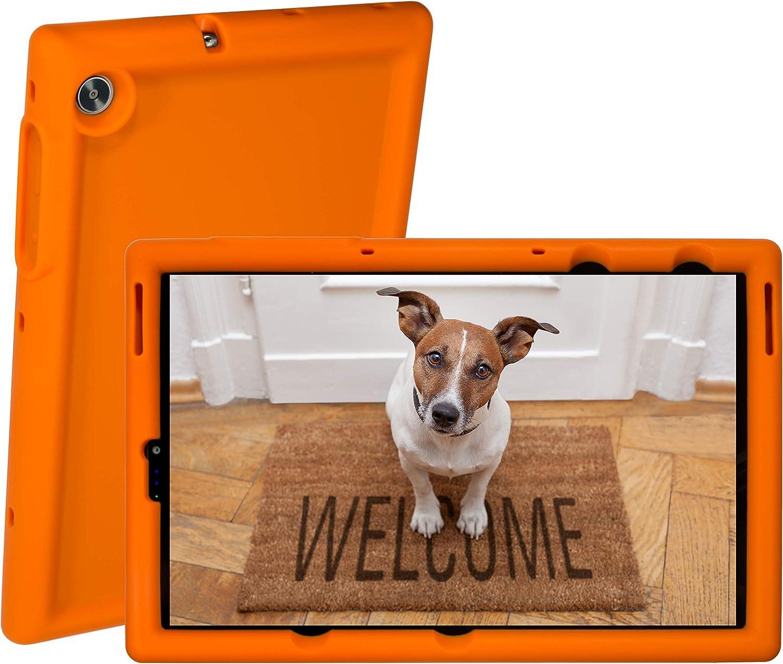 BobjGear Rugged Tablet Case for Lenovo Tab M10 FHD Plus 10.3 inch (TB-X606F) Premium Washable Silicone, Kid Friendly, Shockproof (Outrageous Orange)