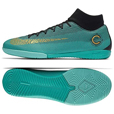 aa372c367cc Nike MercurialX Superfly VI Academy CR7 IC AJ3567-390 Clear Jade Men s Indoor  Soccer Shoes