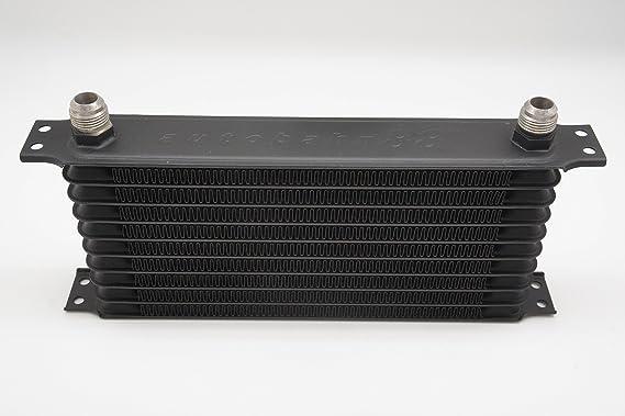 Image ofAutobahn88 universale serbatoio radiatore dell'olio, 10 righe, Core 11.8x5.3x2(300x135x50mm), comprende - 10AN adattatore (nero)