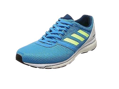 hot sale online a2616 a2f78 adidas Herren Adizero Adios 4 Laufschuhe Blau Shock CyanHiRes  YellowLegend