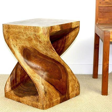 Amazon Com Strata Furniture Tet1520 Twist Side Table Walnut 15 X