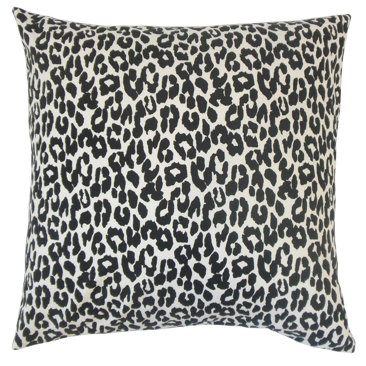 The Pillow Collection Black Olesia Animal Print Bedding Sham, King/20'' x 36''