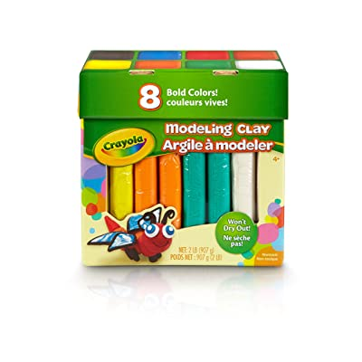 Crayola 8ct Modeling Clay, Bold Colors, 2 Lb. Gift for Kids Age 4 & Up: Toys & Games