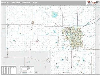 Amazon.com: MarketMAPS Lincoln, NE Metro Area Wall Map - 2018 - ZIP ...