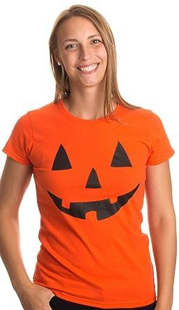 Amazon.com: JACK O' LANTERN PUMPKIN Ladies' T-shirt / Easy ...