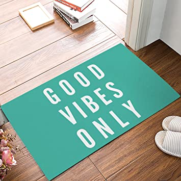Amazon Com Charmhome Good Vibes Only Funny Doormats Entrance Mat