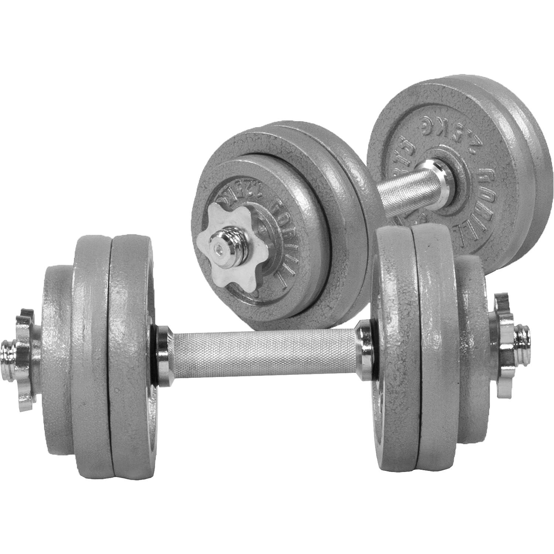 GORILLA SPORTS Erwachsene 30Gusseisen Kurzhantelset, Grau, 30 kg