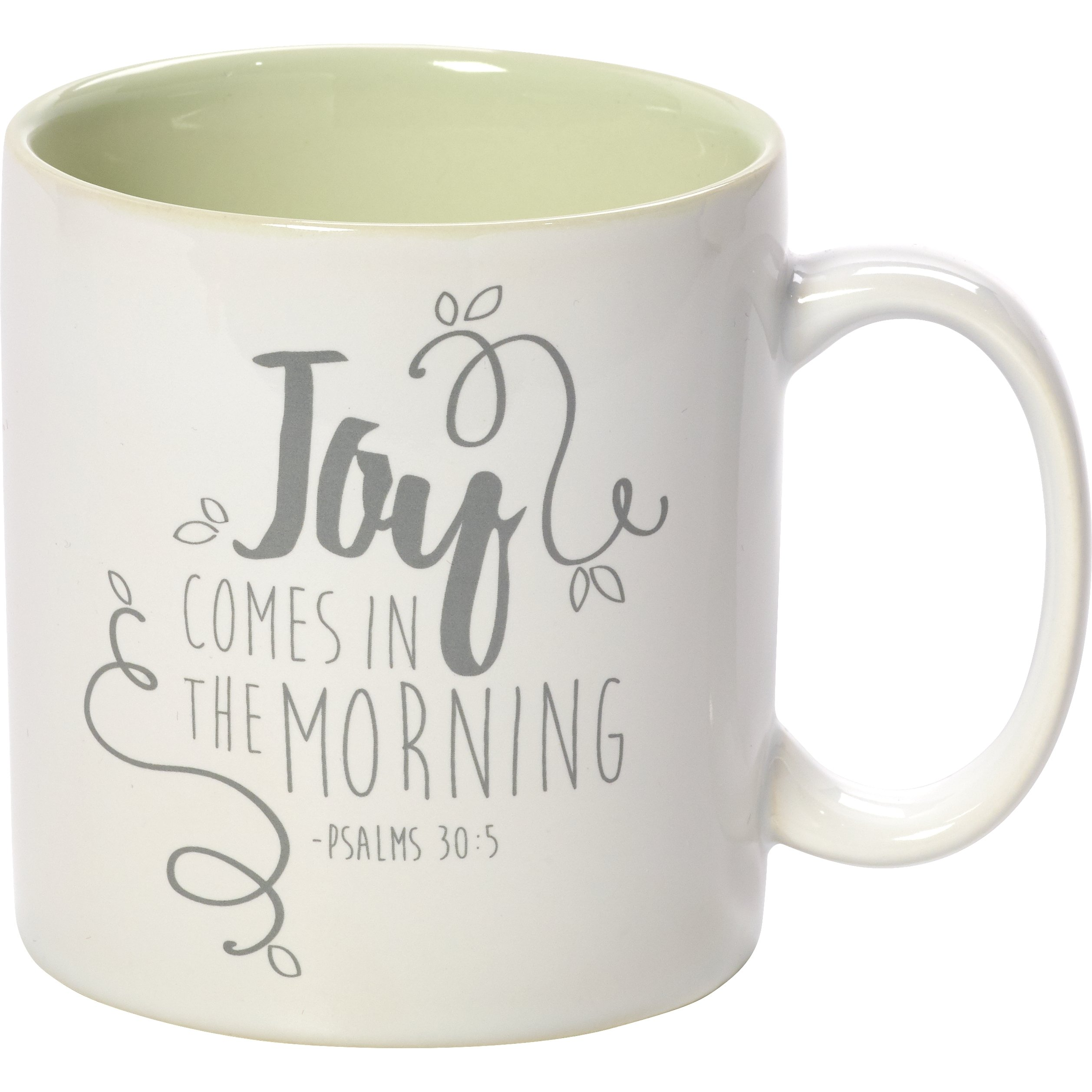 Precious Moments 173414 Green Stoneware 11Oz Coffee Mug Inspirational Home Decor, One Size, Multi