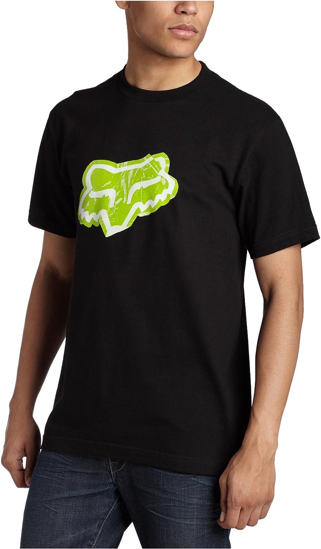 FOX Mens Sticker T-Shirt, Black/Green, 28 at Amazon Mens Clothing store: Fashion T Shirts