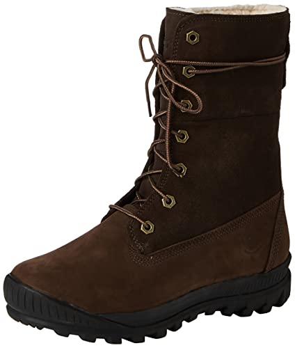 1d3a756e00fdf Timberland Women's Woodhaven Roll Down Boots (9, Dark Brown)