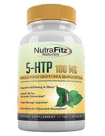 5 HTP 100mg Supplement, Plus B6-5HTP Organic Whole Food - Natural Sleep Aid