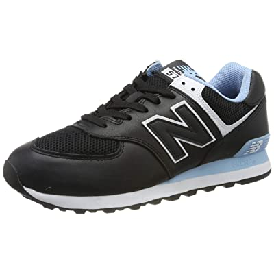 New Balance Men's 574v2 Sneaker, Black/Summer Sky, 13 D US | Fashion Sneakers
