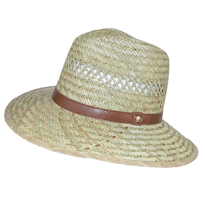 DPC Outdoor Design Men s Rush Straw Safari Hat with Kangaroo Badge ... 737d0415d84