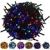 VOLTRONIC 100 200 400 600 LED Lichterkette (Bureau Veritas GS geprüft), Dekra GS Adapter, IP44, Farbwahl