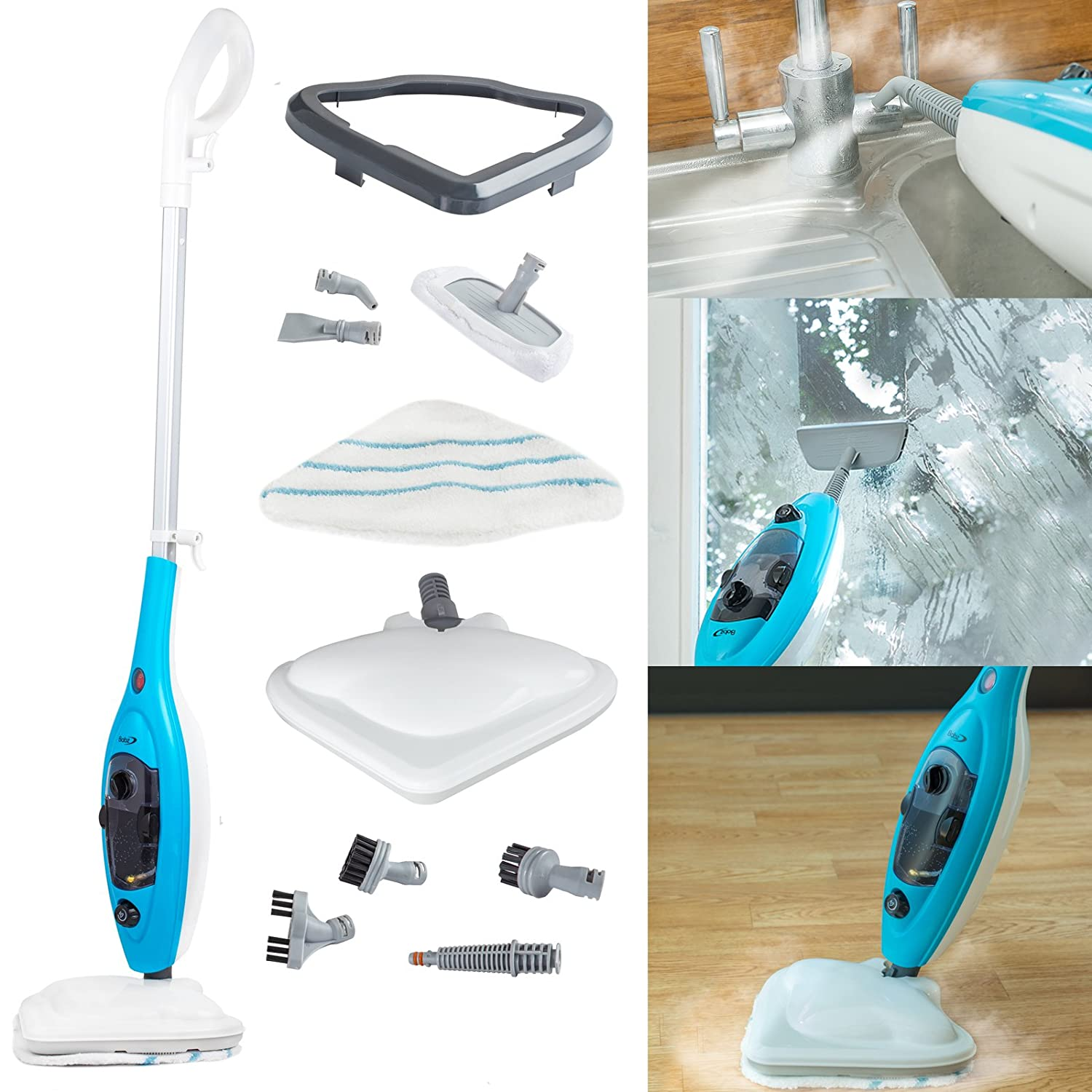 Babz 10 in 1 Steam Cleaner Mop Hand Held: Amazon.co.uk: Kitchen & Home
