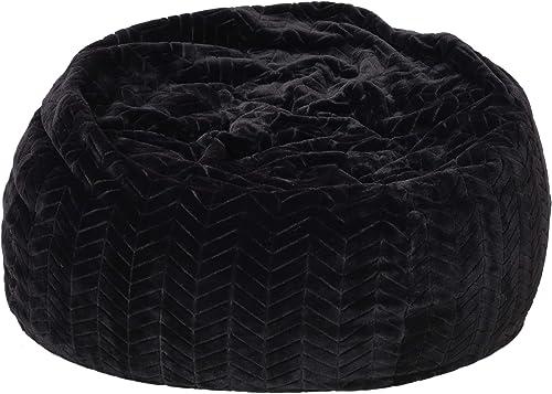 Heavy Metal Inc Meridian Bean Bag Plush Faux Fur Chair   Comfortable and Fun Beanbag