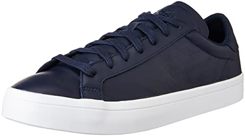 f140e7ca81b adidas Originals Men s Courtvantage Conavy and Ftwwht Leather Sneakers - 8  UK India (42
