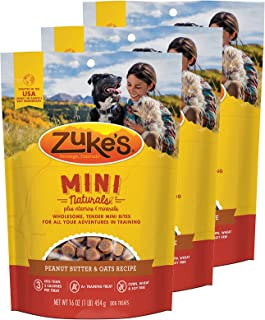 product image for Zuke's Mini Naturals Dog Treats Peanut Butter and Oats 16 oz 3 Pack