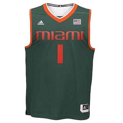brand new 025bb 748b2 NCAA Miami Hurricanes Men's Basketball Replica Jersey, Medium, Green