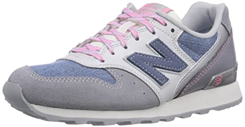 New Balance Patchwork 996 - Zapatillas Para Mujer, Color Gris (Grey), Talla 36.5 EU (4 UK)