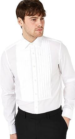 next Hombre Camisa Entallada Y Plisada con Puño Doble De ...