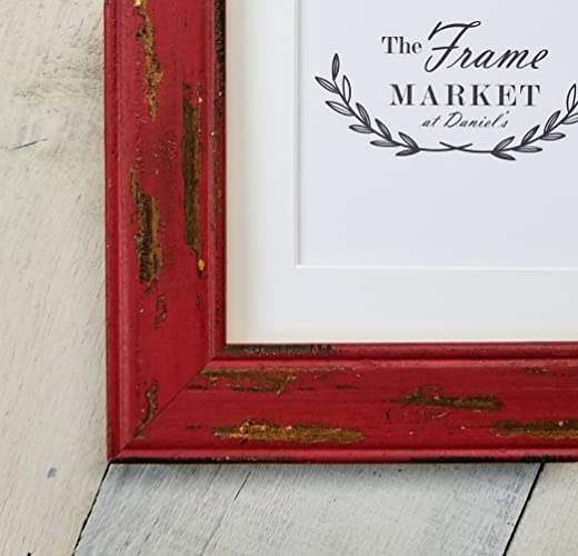 Amazon.com: Barn Wood Red Picture Frame 5x7, 8x10, 11x14, 16x20 and ...