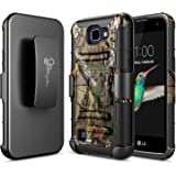 LG K4 Case, LG Spree / LG Optimus Zone 3 / LG Rebel LTE Case,NageBee [Heavy Duty] Armor Shock Proof Dual Layer [Swivel Belt Clip] Holster with [Kickstand] Combo Rugged Case - Camouflage