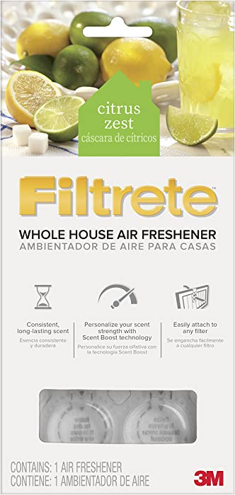 Filtrete WHAF-1-CZ Whole House Air Freshener for HVAC Filter, Citrus Zest