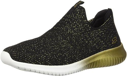 f8d19a4cfe444 Skechers Women's Ultra Flex - Metamorphic Sneakers, Black/Gold/White, ...