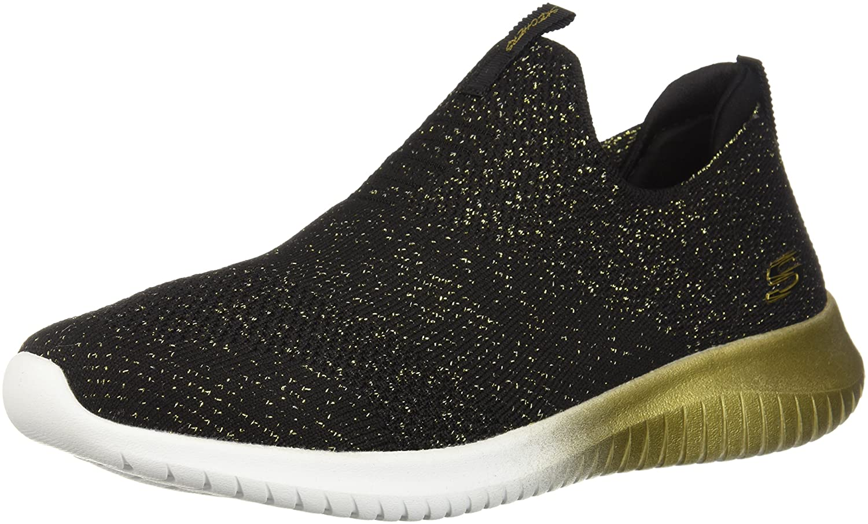 Skechers Women's Ultra Flex-Metamorphic Sneaker B076Q47972 6.5 B(M) US|Black/Gold