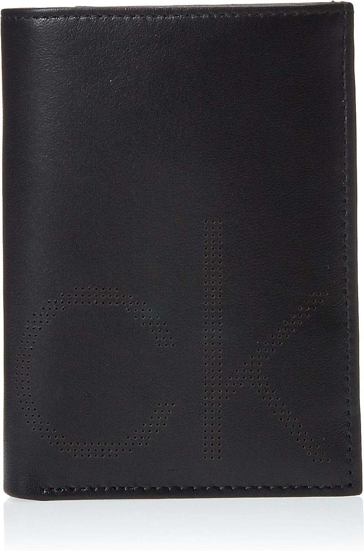 Calvin Klein Jeans - Ck Point Ns 8cc Coin Pass, Carteras Hombre, Negro (Black), 9x3x13 cm (B x H T)