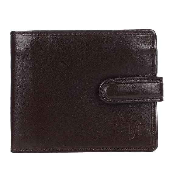 STARHIDE Men/'s RFID Blocking Designer Brown VT Leather Bi-Fold Wallet With A ...